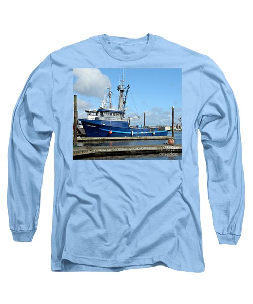 The Mighty Blue Long Sleeve T-Shirt by Chalet Roome-Rigdon
