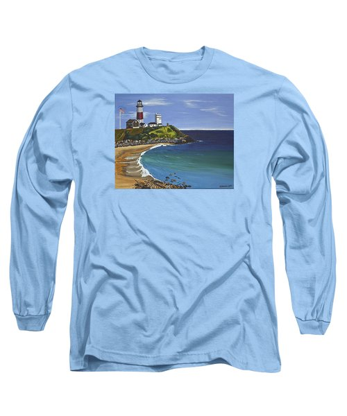 Long Sleeve T-Shirt featuring the painting The Point by Donna Blossom