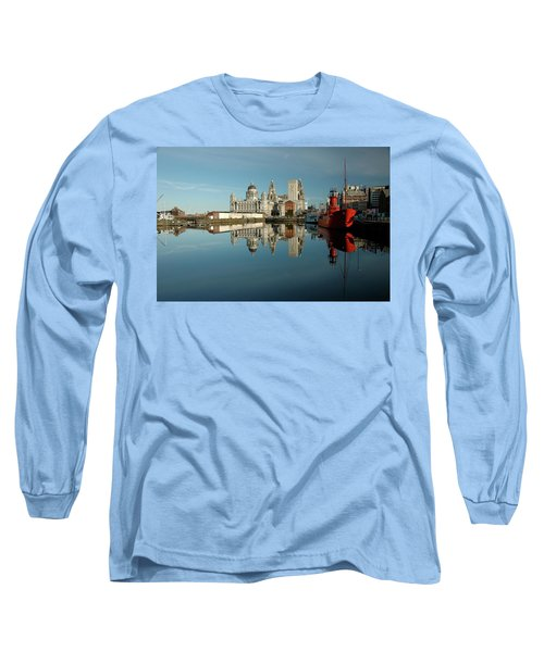 The Red Ship Long Sleeve T-Shirt by Jonah  Anderson