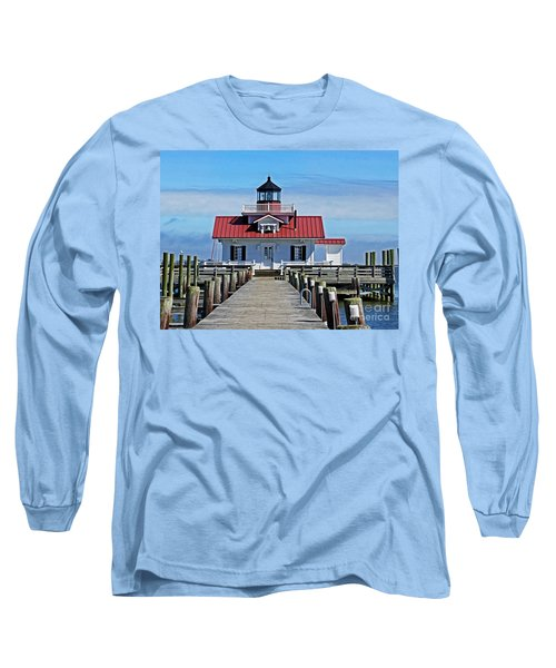 The Roanoke Marshes Lighthouse  Long Sleeve T-Shirt