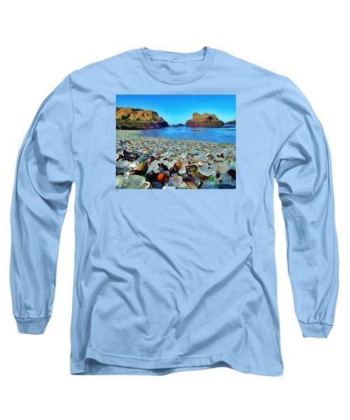Glass Beach In Cali Long Sleeve T-Shirt by Catherine Lott