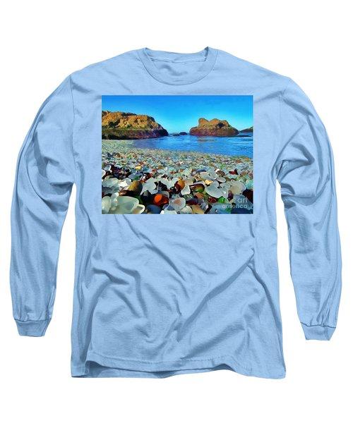 Glass Beach In Cali Long Sleeve T-Shirt