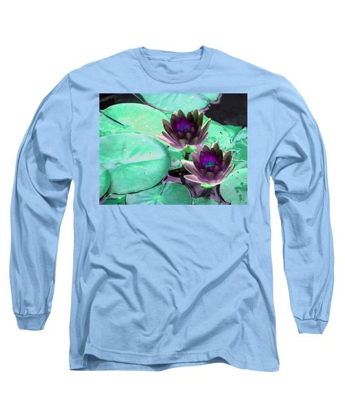 Long Sleeve T-Shirt featuring the photograph The Water Lilies Collection - Photopower 1118 by Pamela Critchlow