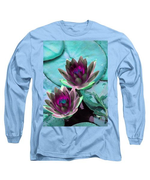 Long Sleeve T-Shirt featuring the photograph The Water Lilies Collection - Photopower 1124 by Pamela Critchlow
