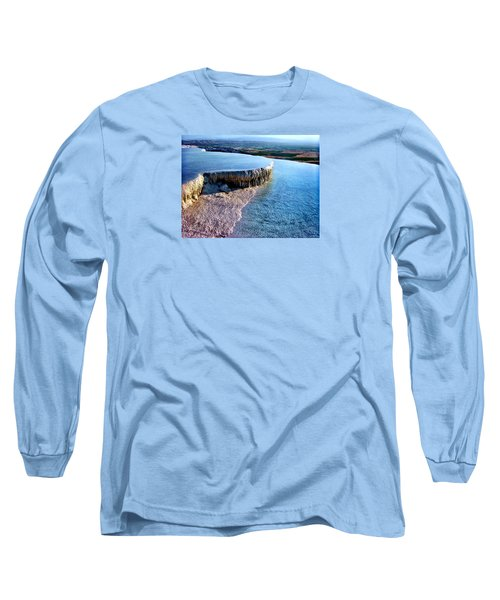 The Water With White Paint Long Sleeve T-Shirt by Zafer Gurel