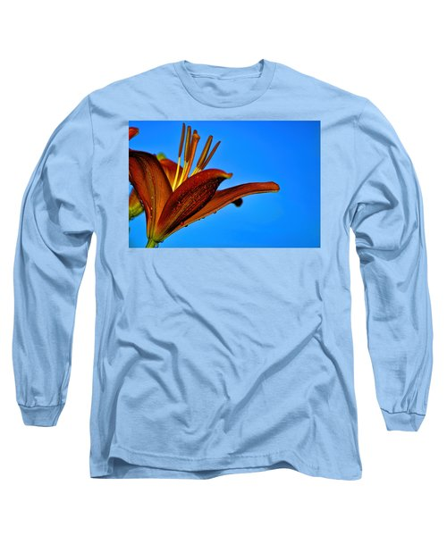Thirsty Lily In Hdr Art  Long Sleeve T-Shirt