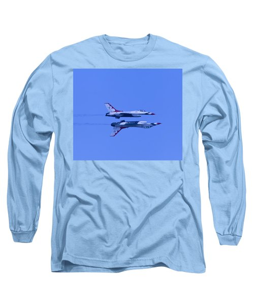 Thunderbirds Solos 6 Over 5 Inverted Long Sleeve T-Shirt by Donna Corless