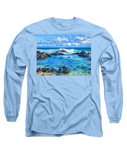 Tide Pool Near Hana Maui Long Sleeve T-Shirt
