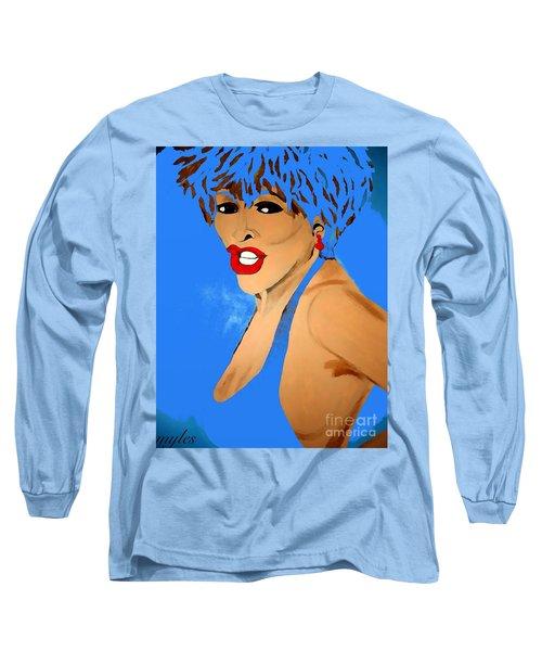 Tina Turner Fierce Blue 2 Long Sleeve T-Shirt