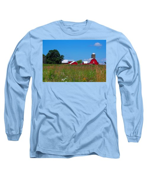 Long Sleeve T-Shirt featuring the photograph Touch Of Color by Dave Files