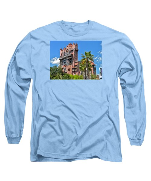 Tower Of Terror Long Sleeve T-Shirt by Thomas Woolworth