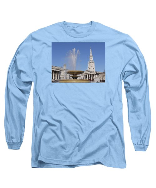 Trafalgar Square Fountain. Long Sleeve T-Shirt
