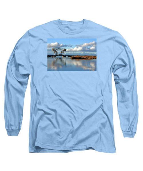 Train Bridge Long Sleeve T-Shirt by Chris Anderson