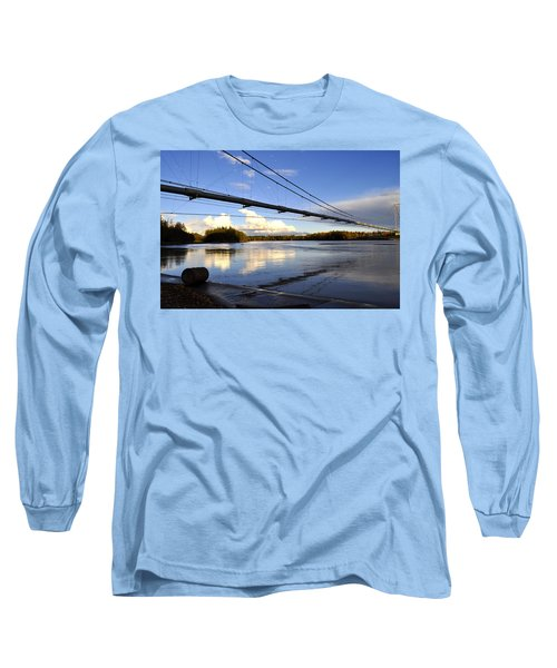 Long Sleeve T-Shirt featuring the photograph Transalaska Pipeline Bridge by Cathy Mahnke