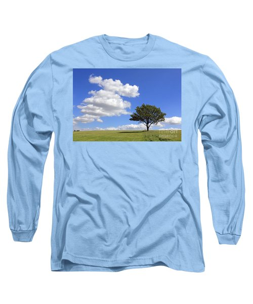 Tree With Clouds Long Sleeve T-Shirt