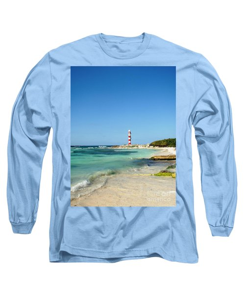 Tropical Seascape With Lighthouse Long Sleeve T-Shirt