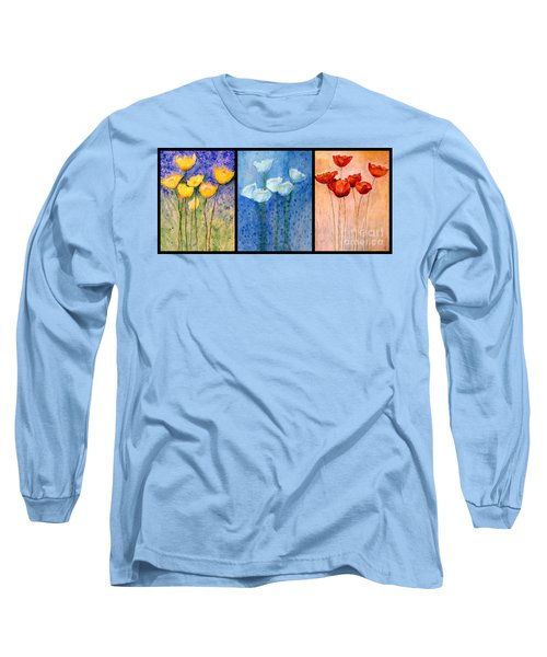 Tulips Collage  Long Sleeve T-Shirt