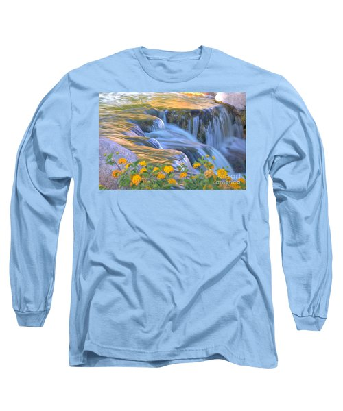 Tumbling Waters Long Sleeve T-Shirt by Deb Halloran