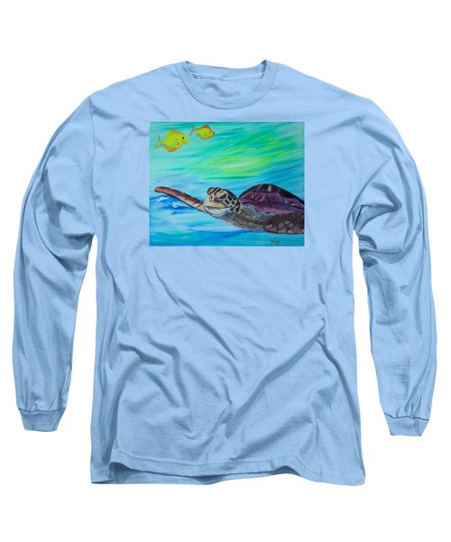 Traveling Through Long Sleeve T-Shirt by Meryl Goudey