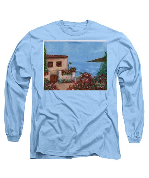 Long Sleeve T-Shirt featuring the painting Tuscany View by Becky Lupe