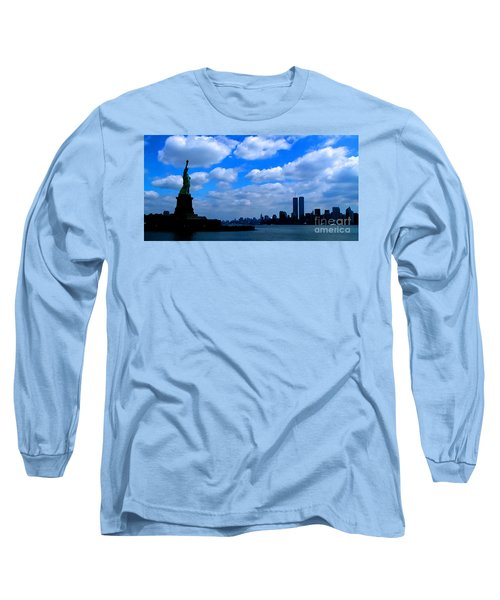 Twin Towers In Heaven's Sky - Remembering 9/11 Long Sleeve T-Shirt