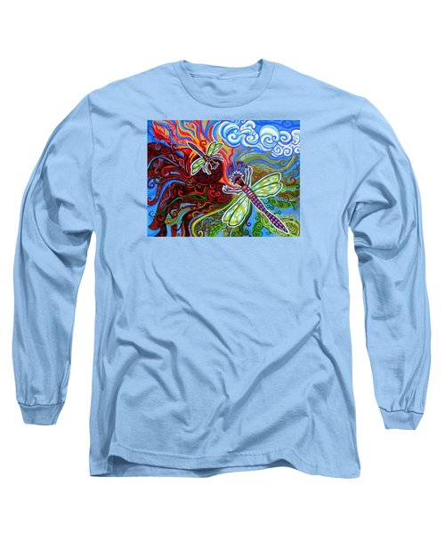 Two Dragonflies Long Sleeve T-Shirt by Genevieve Esson