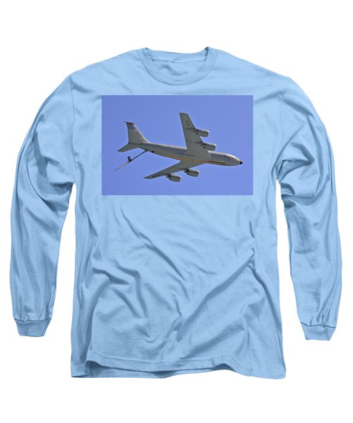 Long Sleeve T-Shirt featuring the photograph U S Air Force Flyover by DigiArt Diaries by Vicky B Fuller