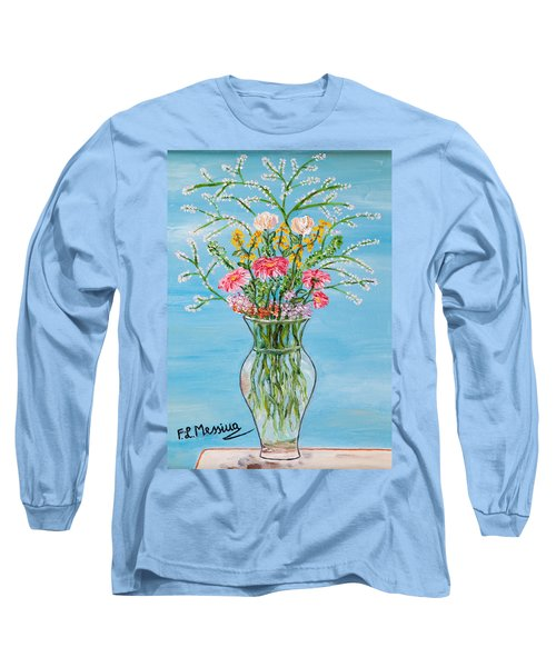 Long Sleeve T-Shirt featuring the painting Un Segno by Loredana Messina