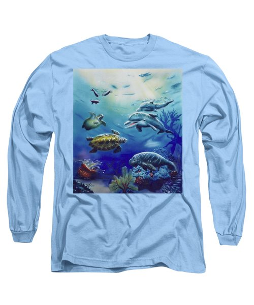 Under Water Antics Long Sleeve T-Shirt by Thomas J Herring