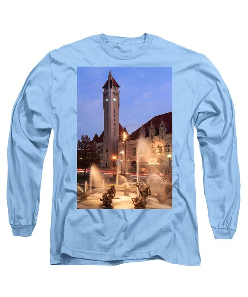 Union Station In Twilight Long Sleeve T-Shirt