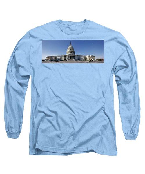 Us Capitol Panorama Long Sleeve T-Shirt