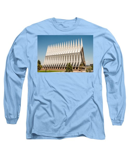 Long Sleeve T-Shirt featuring the photograph Air Force Academy Chapel by Sue Smith