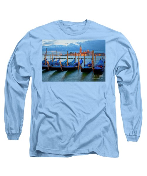 Venice View To San Giorgio Maggiore Long Sleeve T-Shirt by Heiko Koehrer-Wagner