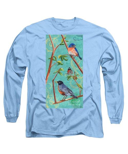 Verdigris Songbirds 1 Long Sleeve T-Shirt