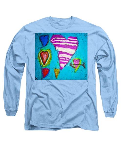 Vibrant Love Long Sleeve T-Shirt by Sara Frank