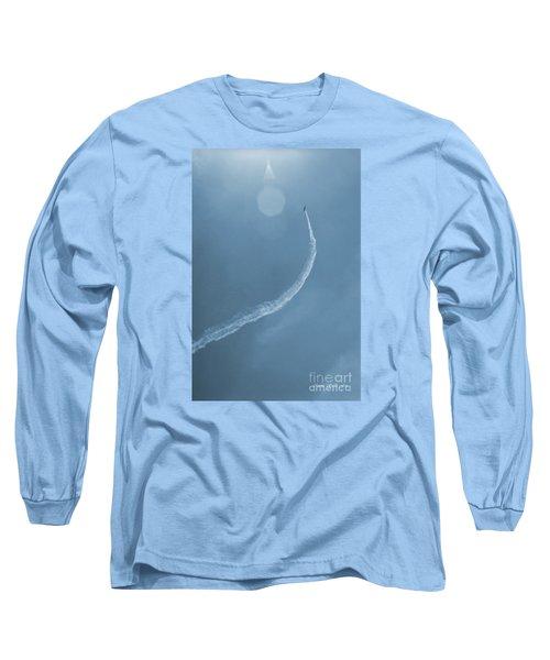 Vintage Jet In Teal Blue Long Sleeve T-Shirt