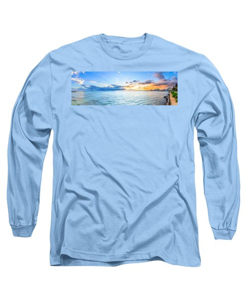 Waikiki Sunset After An Afternoon Thunderstorm Long Sleeve T-Shirt