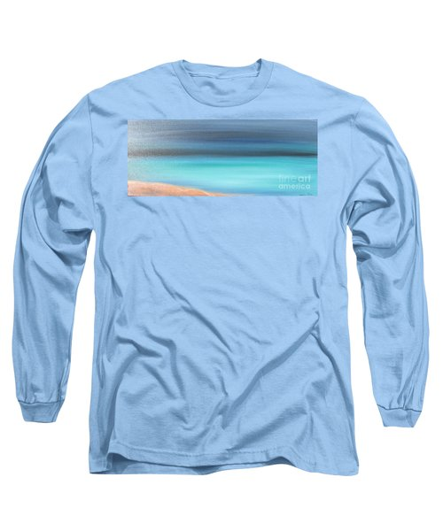 Long Sleeve T-Shirt featuring the painting Waiting by Jacqueline Athmann