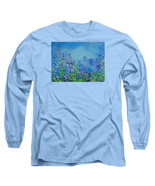 Walk Out Into The Fields Long Sleeve T-Shirt by Dan Whittemore