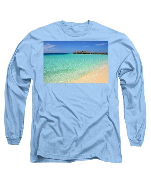 Warm Welcoming. Maldives Long Sleeve T-Shirt by Jenny Rainbow
