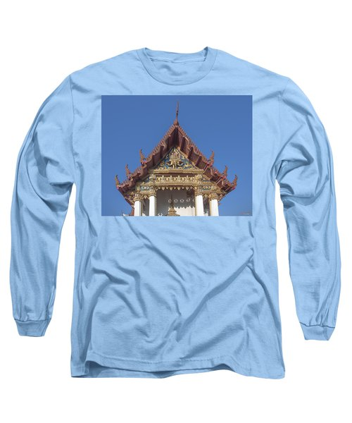 Wat Amarintaram Ubosot Gable Dthb1509 Long Sleeve T-Shirt