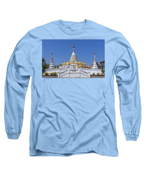 Wat Songtham Phra Chedi Dthb1915 Long Sleeve T-Shirt