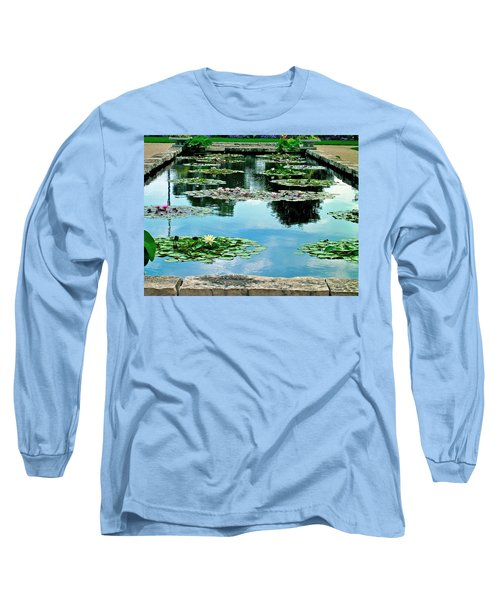 Long Sleeve T-Shirt featuring the photograph Water Lily Garden by Zafer Gurel