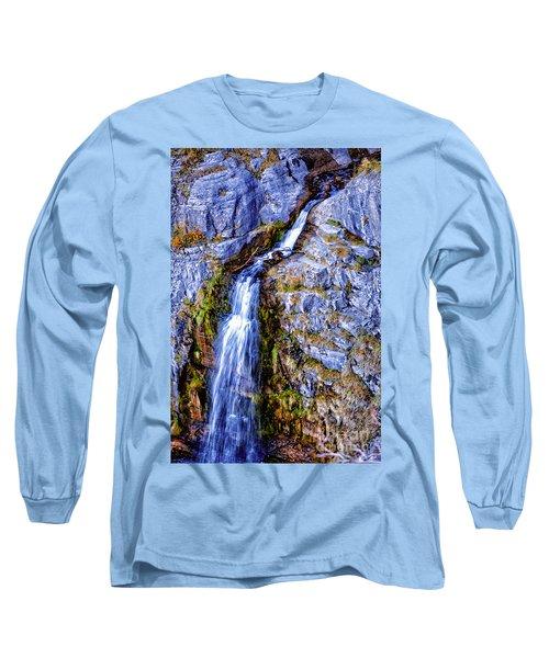 Waterfall-mt Timpanogos Long Sleeve T-Shirt