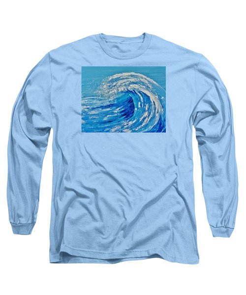 Long Sleeve T-Shirt featuring the painting Wave by Katherine Young-Beck