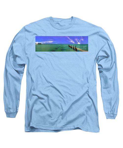 Long Sleeve T-Shirt featuring the photograph Western Australia Busselton Jetty by David Zanzinger