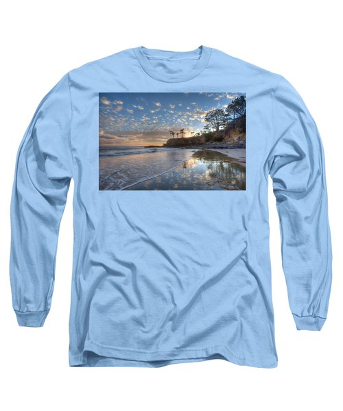 Wet Sand Reflections Laguna Beach Long Sleeve T-Shirt