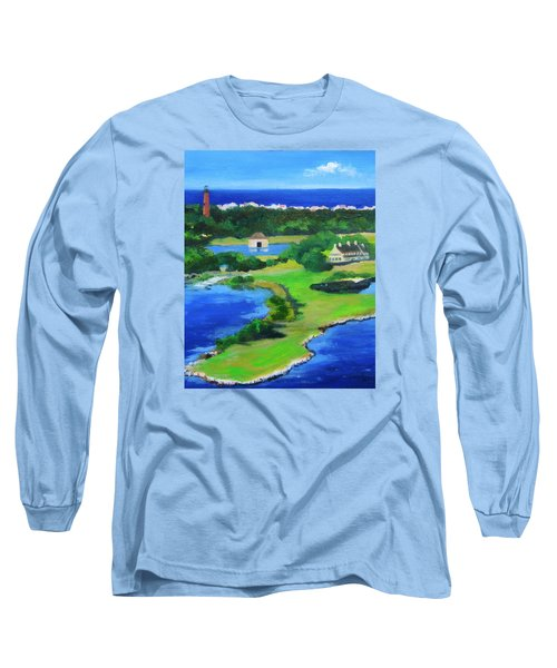 Whalehead Overview Long Sleeve T-Shirt by Anne Marie Brown