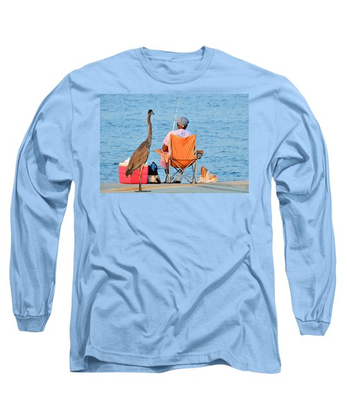 Long Sleeve T-Shirt featuring the photograph What's For Lunch by Charlotte Schafer