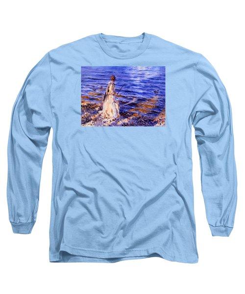 When A Woman Goes Fishing Long Sleeve T-Shirt